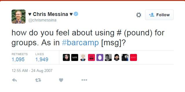 First Tweet wth Hashtag