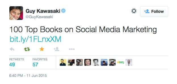 Guy Kawasaki tweets DrumUp's blog post