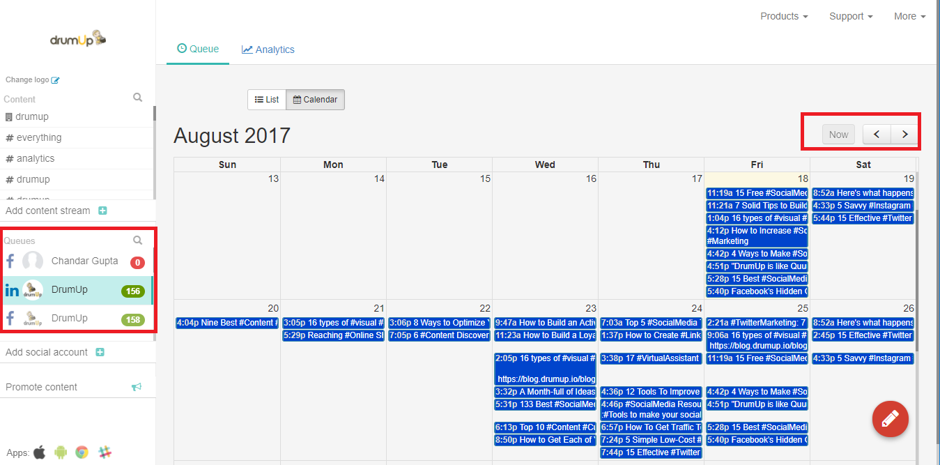 11. Use calendar view to review content for content overview