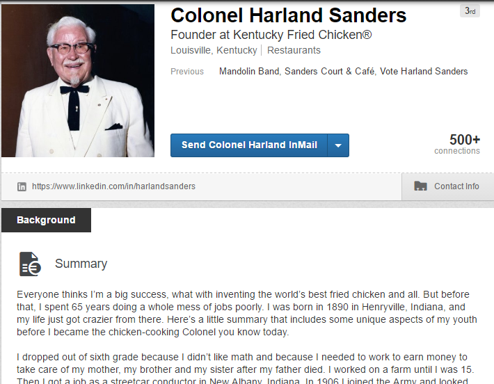 Colonel Sanders Possibility 5