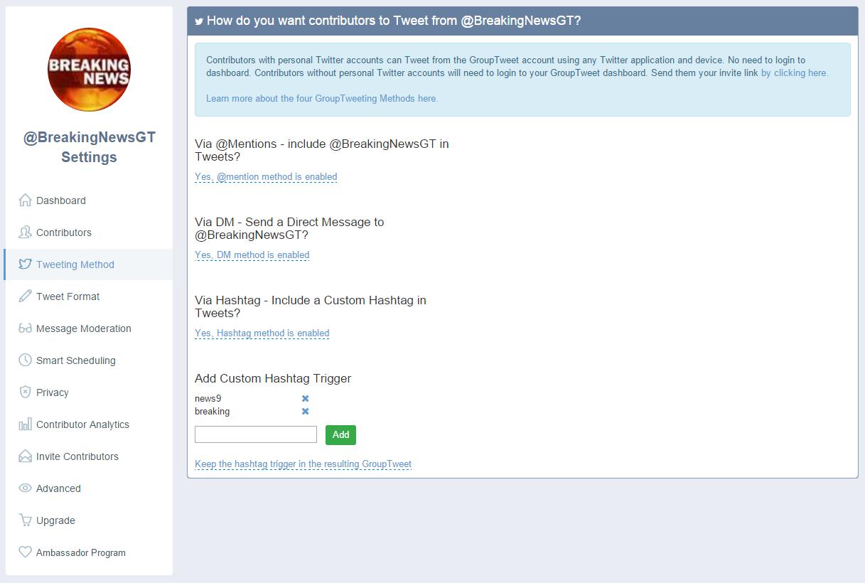 GroupTweet for twitter marketing