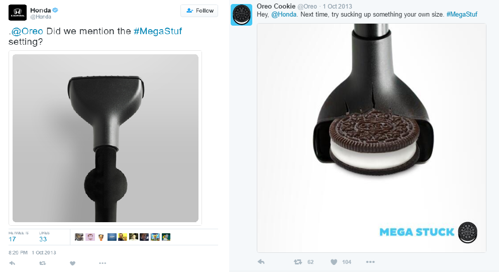 Oreo vs. Honda tweets