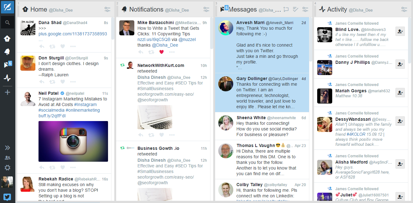 TweetDeck for Twitter marketing