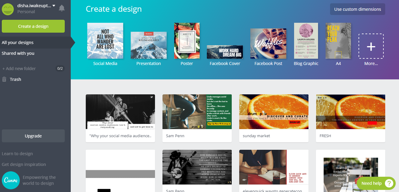 Canva - graphic design software