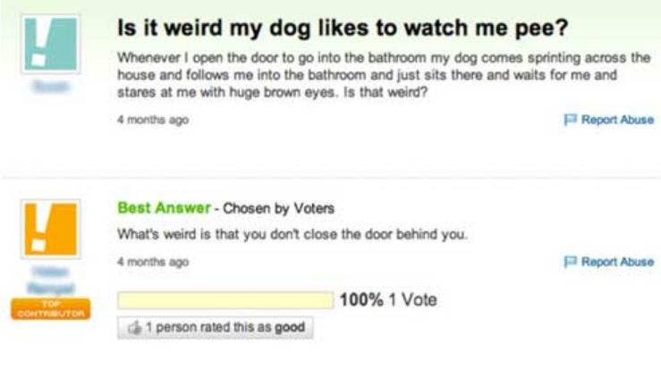 Yahoo answers 2