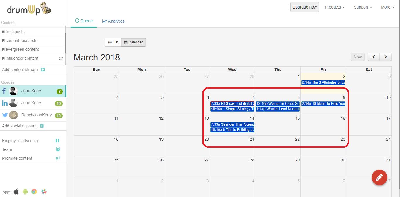 calendar view editing - du