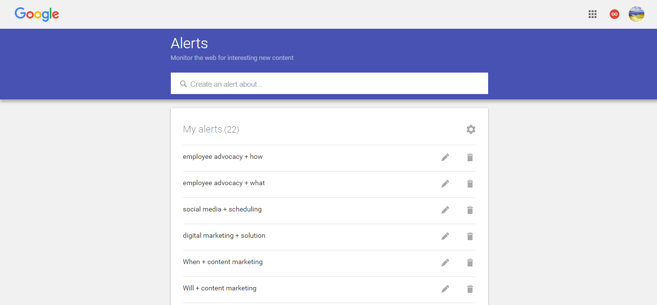 how to change google alerts