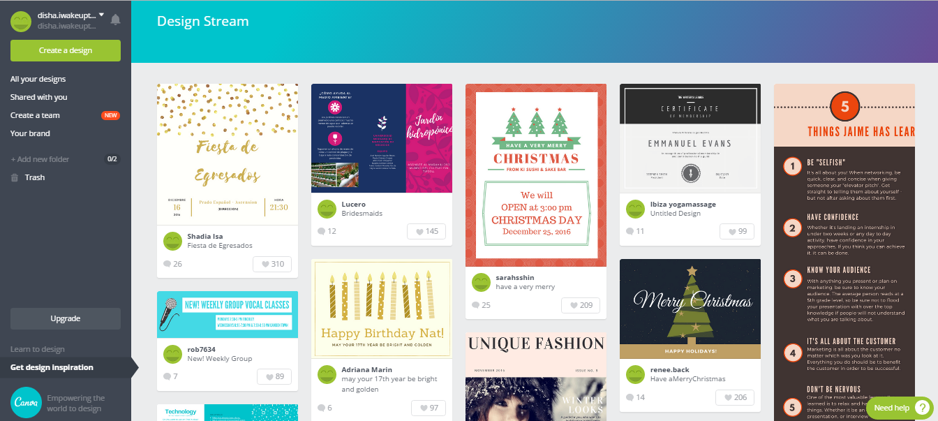 Canva - get design inspiration