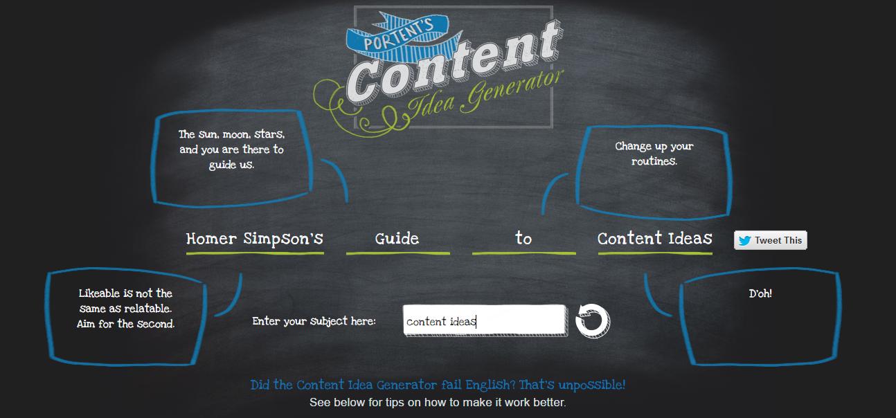 Portent Content Ideas Generator