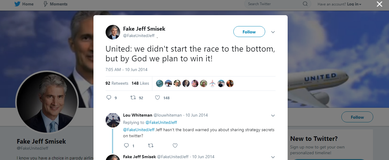 Image 7 Fake Jeff Smisek Be Consistent Tweet