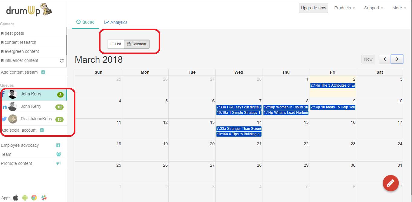 calendar view - du