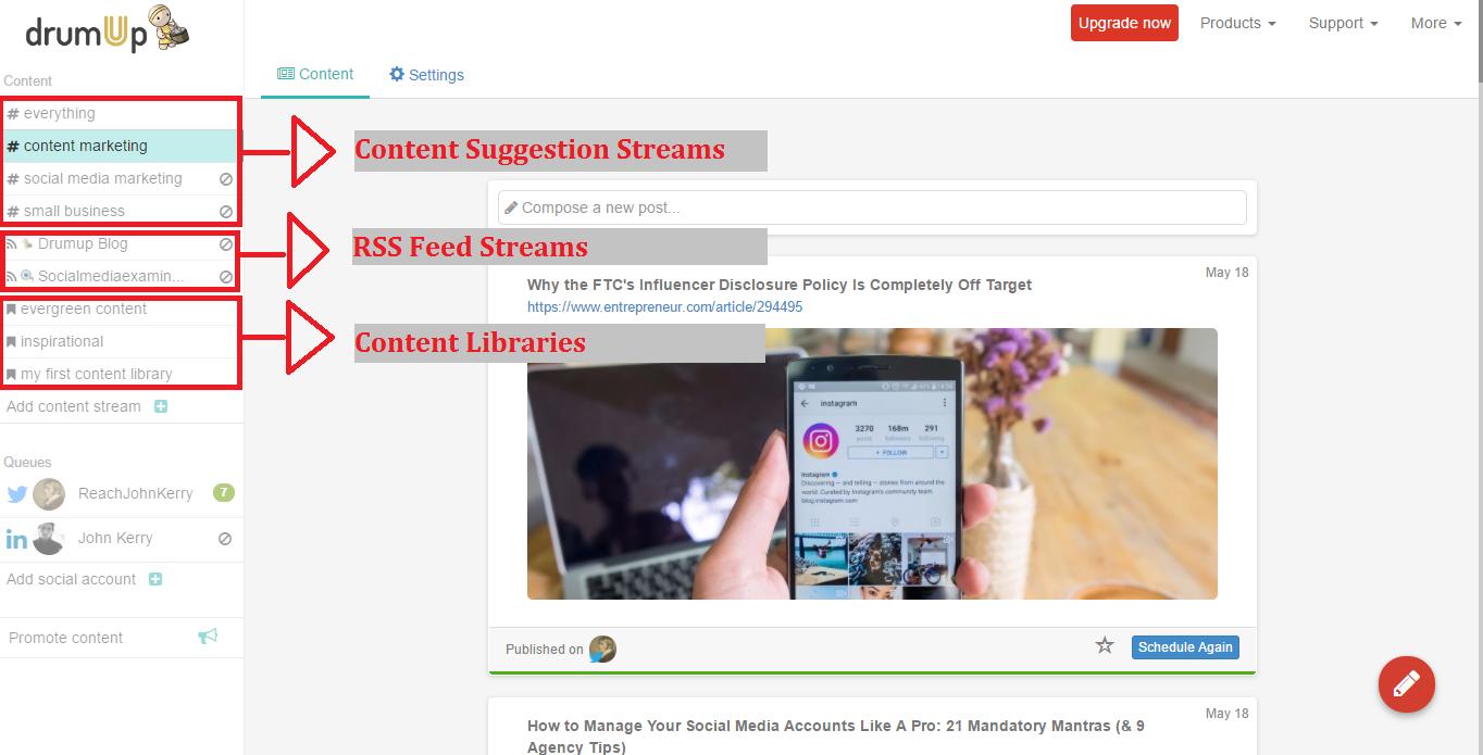 All content streams
